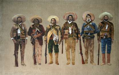 Original Oil Painting Of Pancho Villa